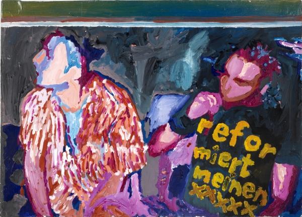 Acryl, Öl, 35*45cm, 2009